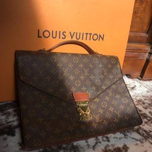Louis Vuitton Porte documents briefcase work bag